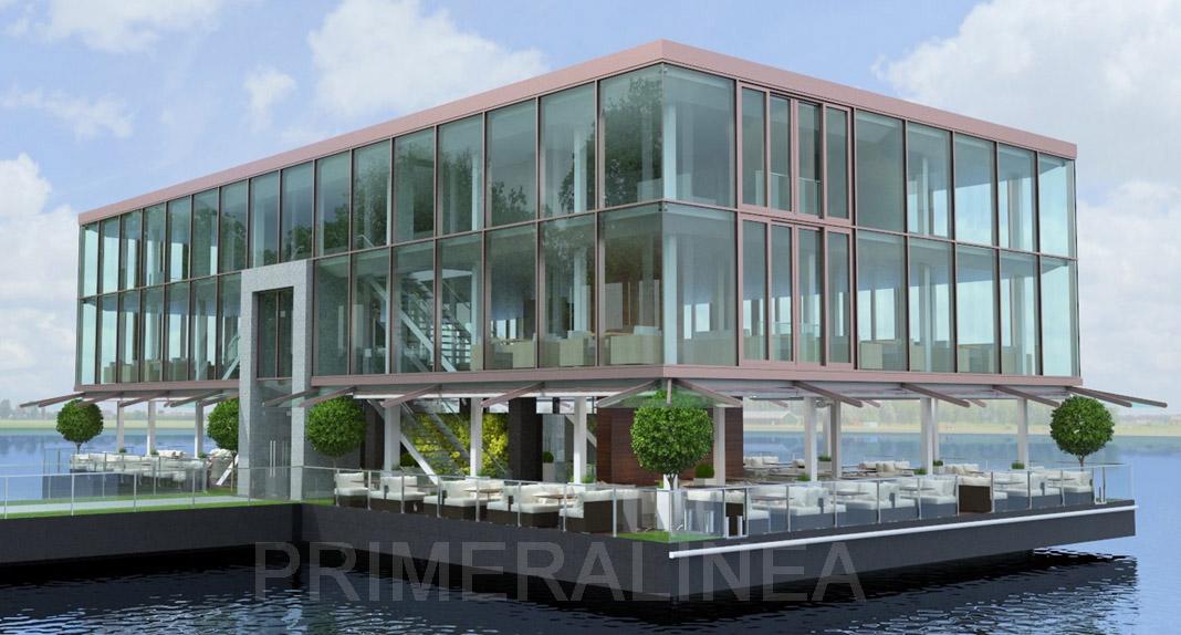 Plataforma flotante, Hotel, Restaurante, Disco-Bar